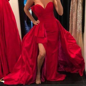 Jovani 58643 Strapless Evening Dress W/ Overskirt
